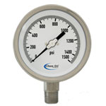 All Stainless Steel Liquid Fillable Gauges