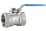 1 Piece Stainless Steel Ball Valve - 1,000 PSI