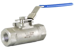 Stainless Steel High Pressure Ball Valve - 3,000 PSI